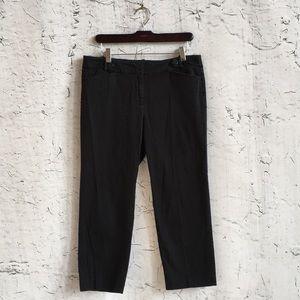 LOFT BLACK PANTS CAPRIS 8